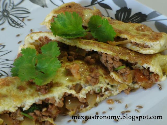 Receita No. 24 - Omelete de Carne Moída com Cardamomo