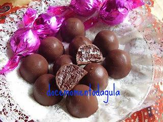 recheio de trufa tradicional de chocolate