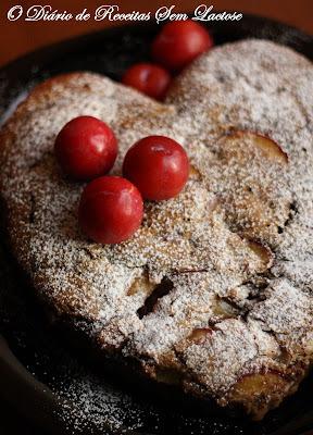 bolo de ameixa feito com adoçante