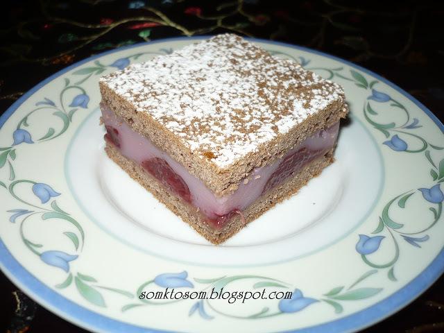 jednoduchý koláč s džemom