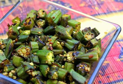 Okra curry / Vendaikkai varuval/poriyal