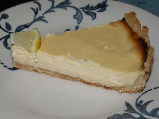 Tarta de miel y limón