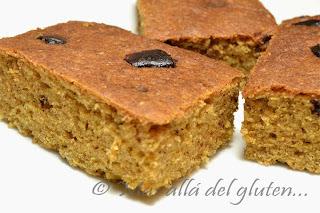 Cuadritos de Quinua con Trozos de Chocolate (Receta GFCFSF)