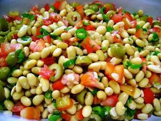 saladas cruas para festa