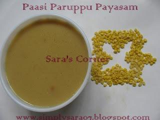 Pasi Paruppu Payasam/Moong Dal Kheer