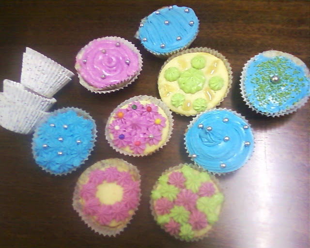 Muffins decorados con Buttercream