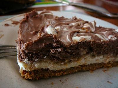 Gâteau au fromage au chocolat praliné sans cuisson
