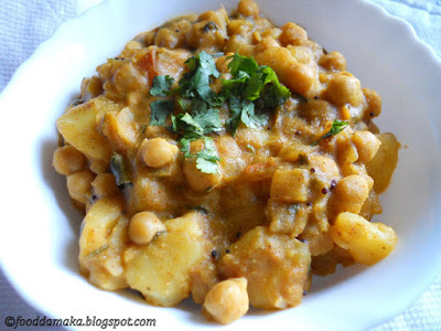 Chickpeas-Potato Curry