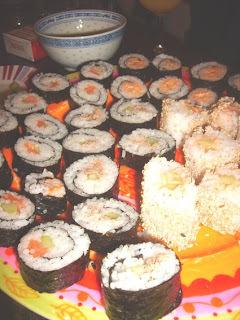sushi, maki et compagnie (une soirée presque parfaite).