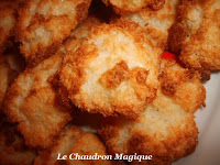 Congolais ou rochers à la noix de coco. (recette Bertrand Simon).