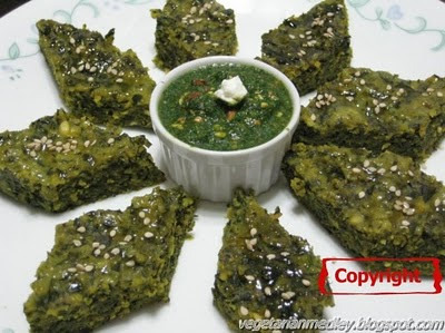 Spinach and Fenugreek Steamed Dumplings (Palak Methi Na Muthia)