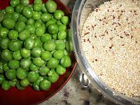 Risoto de quinua e ervilha fresca