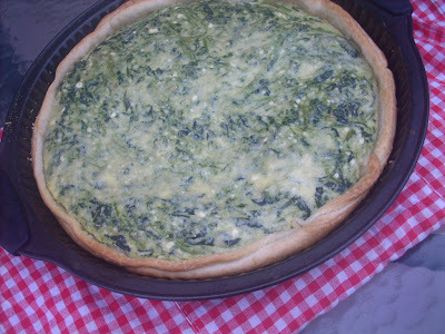 Spinachs and Ricotta Tart in Puff Pastry