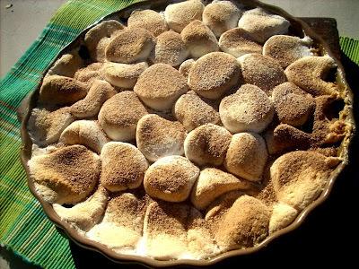 sweet potatoes and marshmallows dessert
