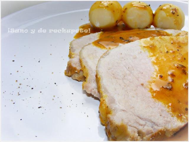 Lomo de cerdo en salsa de naranja especiada