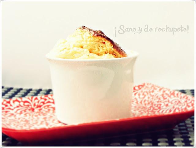 Soufflé de coliflor, queso curado extremeño y pimentón de La Vera