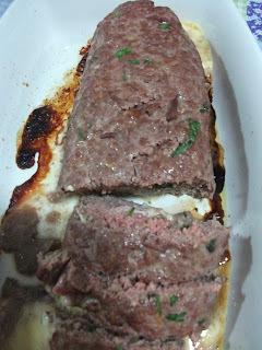 de rocambole de carne moida só de creme de cebola