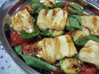 Salada de Abobrinhas e Tomates