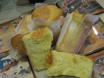 Paper-lined Cup Sponge Cake