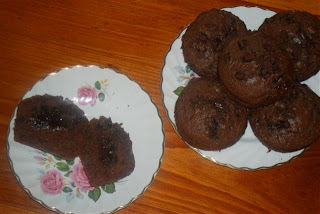 Double Chocolate Surprise Muffins