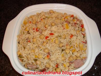 como fazer arroz com bacon e linguiça calabresa