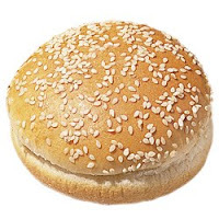 pão de hamburguer preto