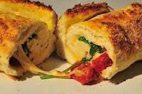 Pão Light/Diet de Rúcula com Tomate Seco