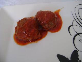 de almondegas de carne moída com maizena