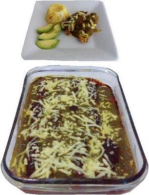 Rollitos rellenos en salsa verde
