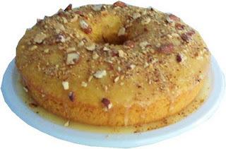 pan de naranja con harina de hot cakes