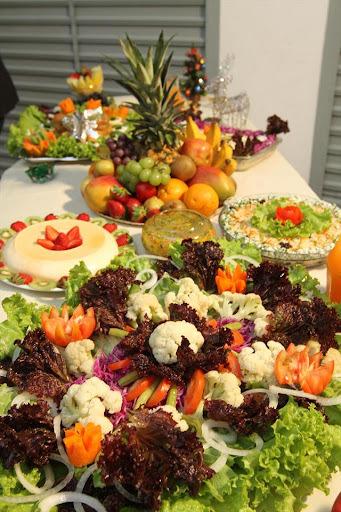 decoração de natal em saladas