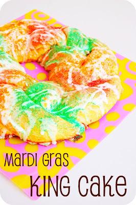MARDI GRAS KING CAKE - GÂTEAU DU ROI