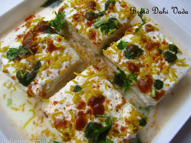 Bread Dahi Vada - Low fat version