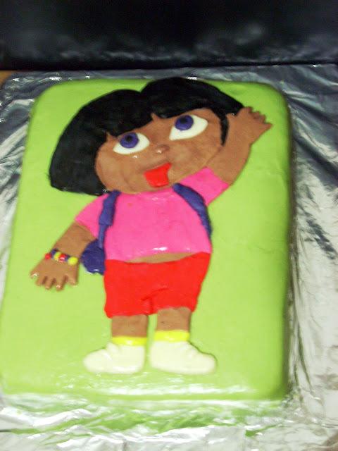 Tarta Dora La Exploradora con Fondant de Leche Condensada