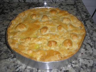 de torta de bacalhau com palmito com massa podre