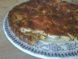 Pastel de calabacín y parmesano