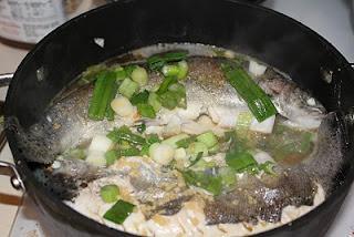 Peixe Chinês com Cebolinha