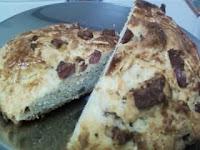 massa de pão frita com fermento em pó