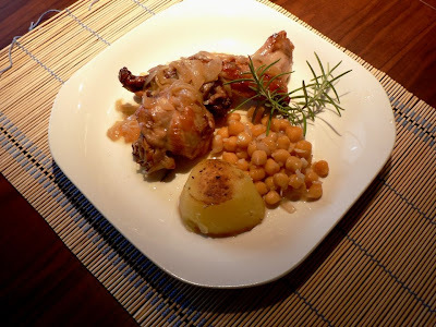 conill rostit amb patates