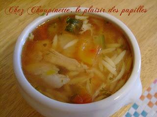 soupe au poulet et légumes méditéranéens
