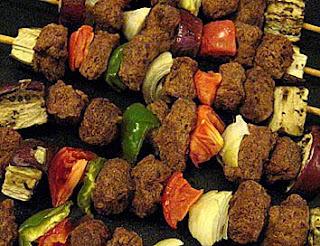 Espetinhos vegetarianos