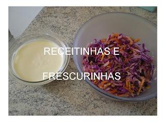Salada de Repolho roxo com nozes