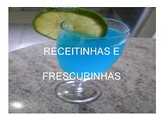 coquetel azul sem alcool