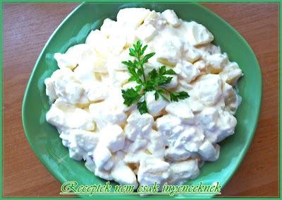 Majonézes tojásos krumplisaláta