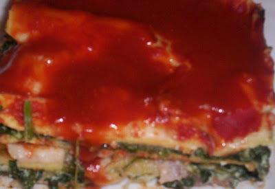 Lasagne - Lasaña de espinacas-
