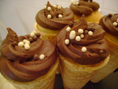 Chocolate chip cupcake cones