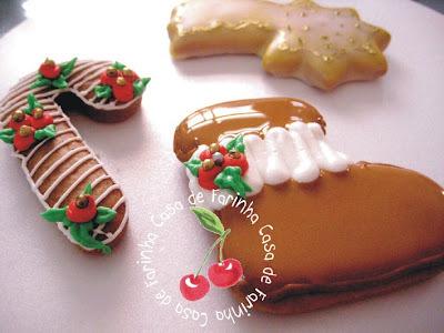 Biscoitos Natalinos com Glacê Real