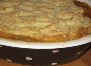Toffee, Apple and Almond Crumble