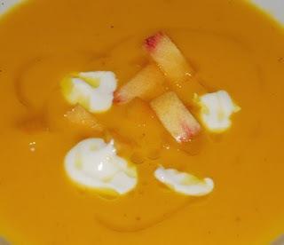 Crema de pastanaga i préssec