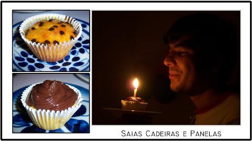 Cupcake de maracujá com chocolate